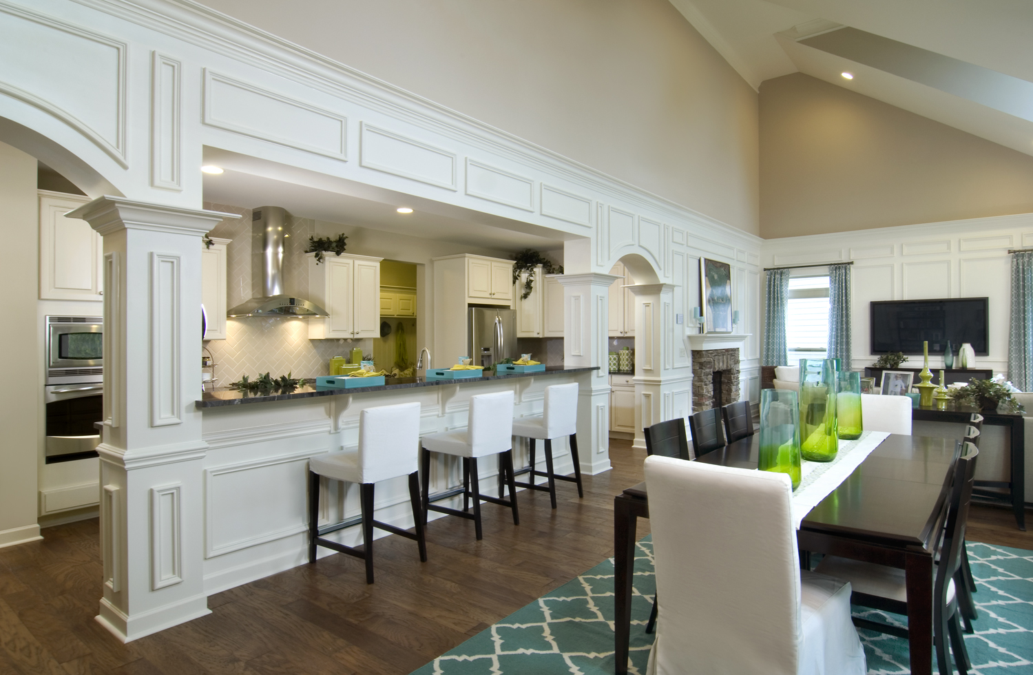 Shea homes opens new model home in winding walk for Model home kitchens