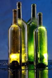 Wine Bottle Projects using Mini Lights
