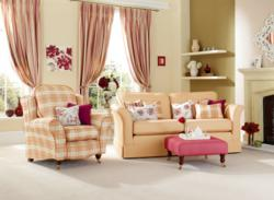 Windsor Sofa Covers with Beaulieu Chair Covers in Rust