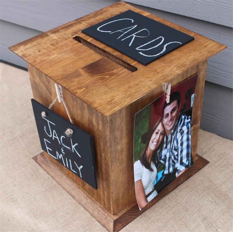 Wedding Gift For Those Who Have Everything: New Rustic Wedding Card Box From The Perfect Card Box Is A