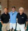 Clay Williams, Stacey Day and Nick Pappas at a Youth Town golf tournament to help young men battle addictions