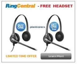 Free RingCentral Plantronics Headset