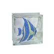 Angel Fish Art Glass Block