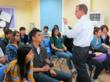Dr. Montgomery at QSI Shekou International School of Shenzhen, China