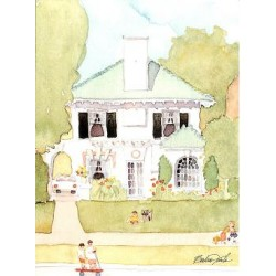 Water Color Image of a House - Boulevard Stroll