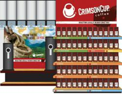 Crimson Cup Retail Merchandising Display