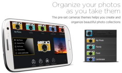 The preset cameras themes helps you crate and organize beautiful photo collections