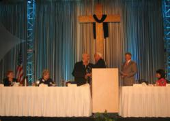 Vanguard University and the YMCA together for Good Friday Prayer Breakfast