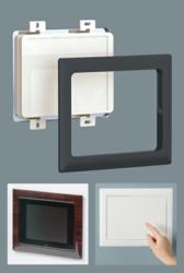 flush mounting frames for wall mounted enclosures