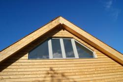 Bespoke triangular Timber Casement Window from Allan Brothers used in Butser Ancient Farm's Janus Visitor Centre