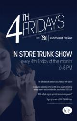 diamond nexus, woodfield, trunk show, jewelry, sale