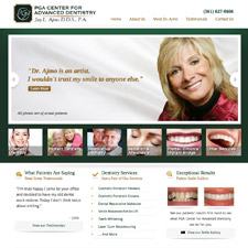 One of Dr. Jay Ajmo's three new dental websites