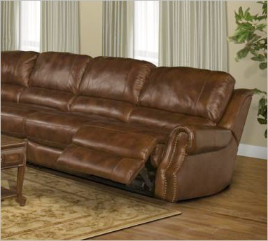 4 Seat Leather Reclining Sofa Elegant Leather Reclining