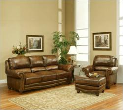 Parker House Cambria Sofa Collection in Tan Leather