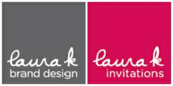 Laura K Brand Design and Custom Wedding Invitations Logos