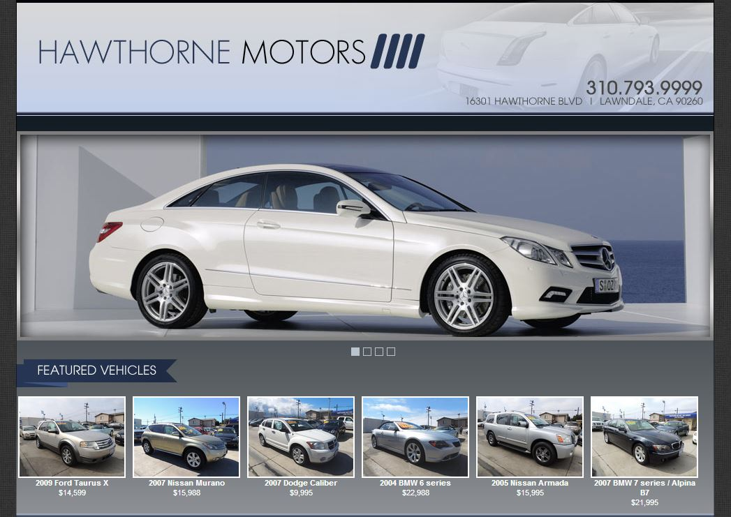 New dealership website for hawthorne motors built by for Law motors sioux falls