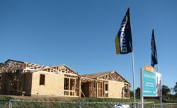 Framing at Brookfield Homes' new community, Seaside Ridge in Encinitas, CA