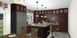 On-line delivery of kitchen rendering
