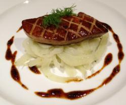 foie gras with fennel and black pepper caramel