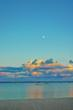 Moonrise over Traverse City's East Bay
