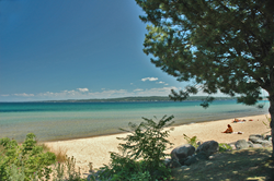 Beach on Traverse City's West Bay