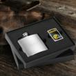 Flask and NFL Zippo Lighter Gift Set