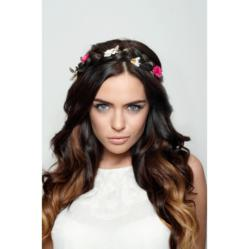plaited festival hair band and ombre clip in extensions
