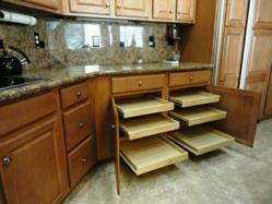Beautiful kitchen with pull out shelves from Slide Out Shelves LLC