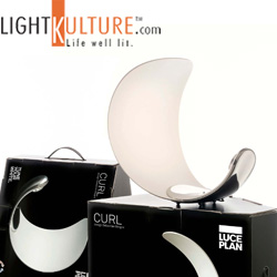 Luceplan Curl LED Sculptural Table Lamp now available at Lightkulture.com