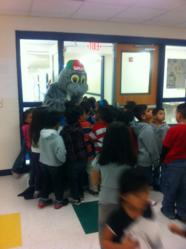 Willy with students at Treasure Hills Elementary