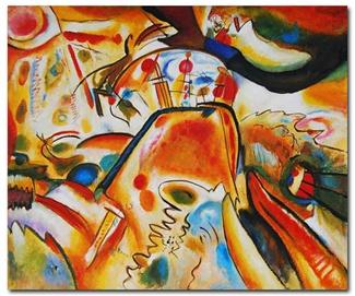 Hand Painted Kandinsky...