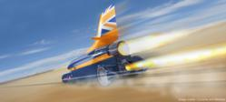 Rendered CAD image of BLOODHOUND SSC
