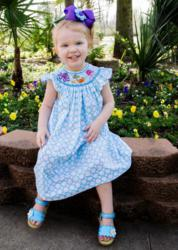 This and That for Kids' adorable Hand Smocked Sea Animal bishop is one of their favorite outfits in the summer line!