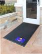 Super Scrape Signature Logo Mats come in 3 by 5 foot and 4 by 6 foot sizes in either horizontal or vertical orientations