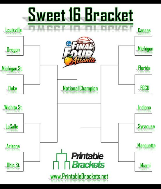 Eloquent image inside sweet 16 printable bracket