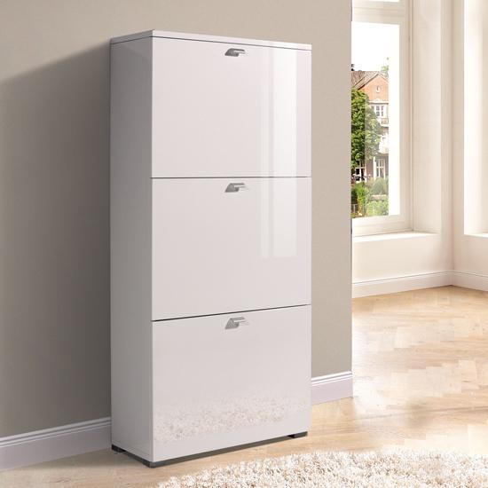 Space Saving Shoe Storage Cabinet White