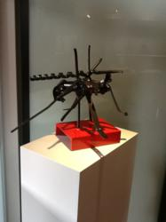 Recycled Metal Scrap sculpture, Mosquito, by Carole Eisner