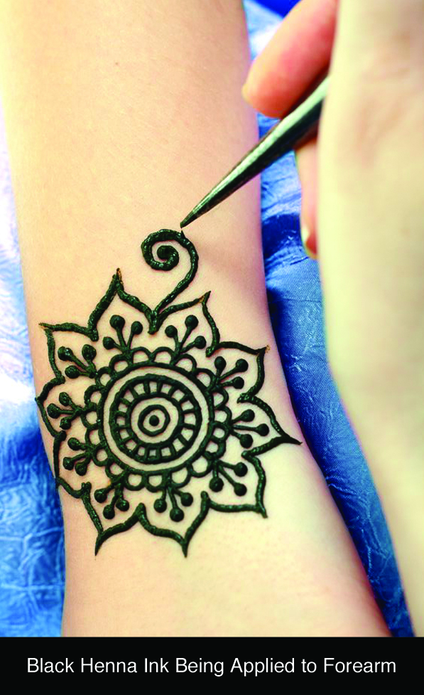 Leg Flower Henna Tattoo: Water-Transfer Henna Temporary Tattoos Are Safe