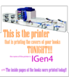 A website post told students that the iGen4 digital press would print the book's front cover.