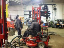 Marshall Power Equipment technicians hard at work!