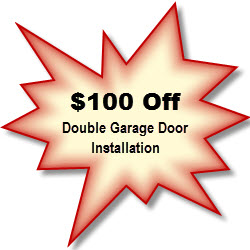 $100 Off Double Garage Door Install