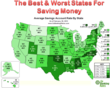 Heat Map: Savings Account Interest Rates by State
