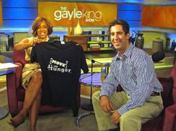 Gayle King hold custom printed tee by Printfly