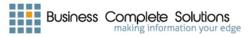 Business Complete Solutions Logo: Combining Business Perfomance Improvement and Cyber Security for Income Growth