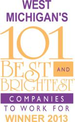 Baudville wins award as one of West Michigan's 101 Best and Brightest Companies to Work For.