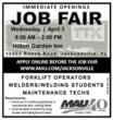 MAU Job Fair: Wednesday, April 3 in Jacksonville, Florida