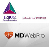 Logos for MDWebPro and Triium