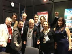 Eric Burdon with the Alfred Music team.