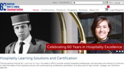 American Hotel & Lodging Educational Institute,  hospitality training programs website