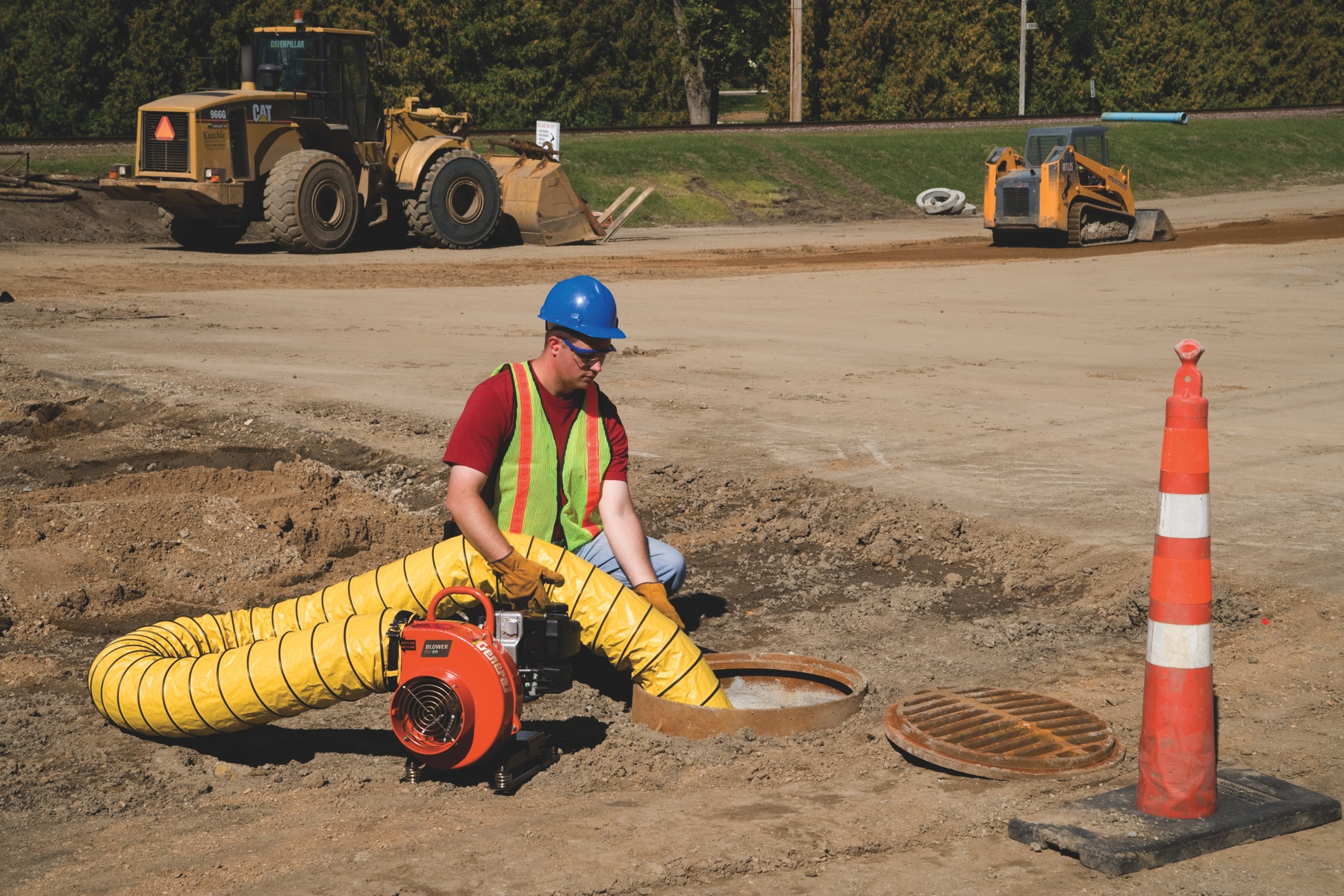 Confined Space Ventilation : General equipment company introduces gasoline powered